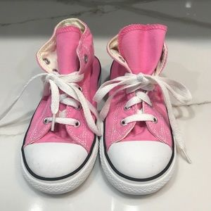 Converse Shoes - Converse Size 10 Toddler Pink All Star Shoes